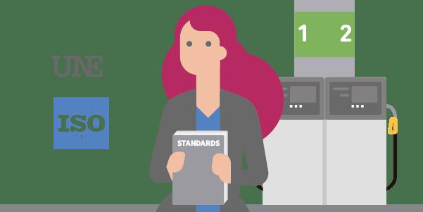 Cumplimiento de Normativas: UNE 175001/6 realizando auditorias en la estaciones de servicio usando Iristrace
