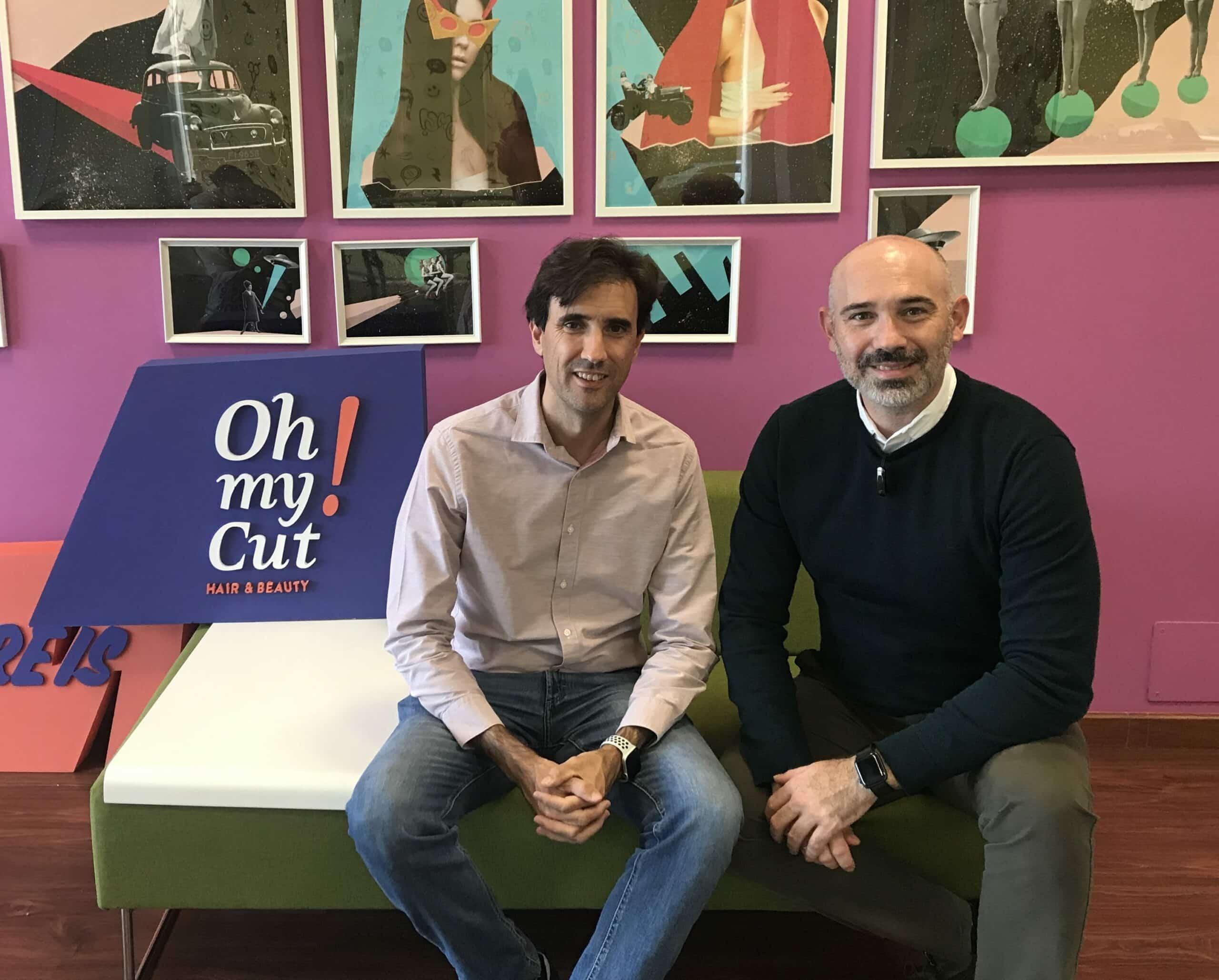 César Mariel (CEO Iristrace) y Kiko Medina (CEO Oh my Cut!)